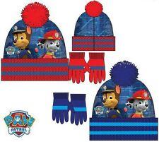 BOYS PAW PATROL WINTER BOBBLE HAT AND GLOVE SET