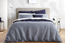 SHERIDAN ABINGTON SUPER KING QUILT COVER SET IN NAVY BRAND NEW