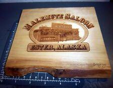 Malemute Saloon Ester Alaska laser etched wood plaque, great Alaska souvenir