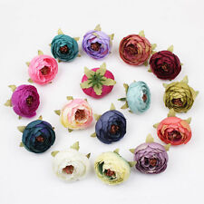 10pc Simulation Flower Ivory Silk Rose Head Home Wedding Handmade Craft DIY Deco