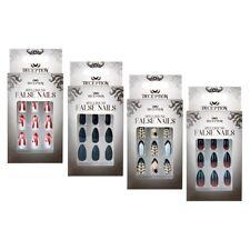 Halloween Self Adhesive False Nails Ladies - Coffin nails - Bloody Nails - Black