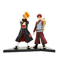 "Naruto Shippuden Gaara & Deidara Figures Anime Toy 2 Pcs Toys Gift Set 16cm 6"""