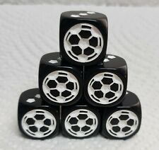 Koplow's Soccer Dice - 18mm OP Black w/White *Pips* on sides 2-6>>Soccer Ball #1