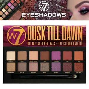 W7 Cosmetics EyeShadow Palette Dusk Till Dawn Shimmery Matte Colour Ultra Violet