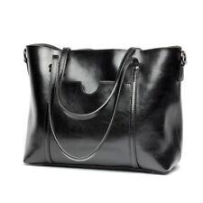 Women Real Genuine Cowhide Leather Shoulder Bag Tote Bags Handbag Shopping Purse