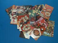 USSR Soviet vintage set postcards. Soviet cookery recipes.