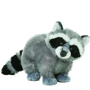 "TheMogan Bandit Mask Grey Raccoon Puppet Soft Plush Stuffed Animal Toy 12"""