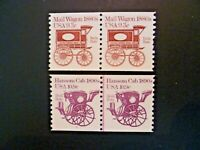 USA 1981-82 #1903 & 1904B Transportation Issue Coil Pairs - See Description