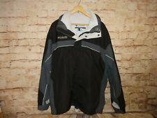 Columbia Jacket Men's XL 3 in 1 Interchange Powder Winter Ski Fleece Black Gray