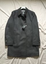 New Mens Hugo Boss Dark Charcoal Grey Wool Cashmere Coat Chest Size 48