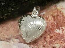 Medaillon kleines Herz mit Ornamenten Anhänger 925 Sterling Silber