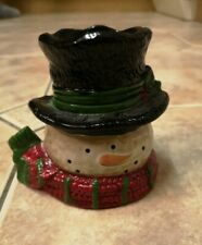 Christmas Snowman Candle Tea Light Holder Decoration