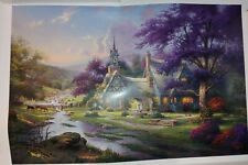 """Thomas Kinkade Lithograph titled """"Clock Tower Cottage"""" # 2141/3850 S/N"""
