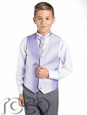 Boys Swirl Waistcoat Suit, Page Boy Suits, Boys Wedding Suits, Grey Trousers