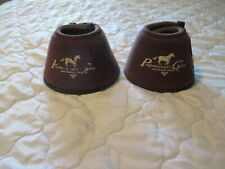 Professionals Choice Overreach Bell Boots Horse Tack medium brown