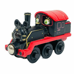 Chuggington Thomas Old Puffer Pete Magnetic Wooden Railway Train Works w/ Brio
