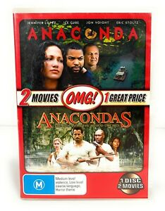 Anaconda & Anacondas - The Hunt For The Blood Orchid 2in1 Movie DVD R4 Free Post
