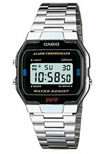 Casio Unisexe Collection Digital Watch with Stainless Steel Bracelet a163wa-1qes