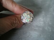Ethiopian Opal ring, size N/O, 2.37 carats, 5.75 grams of 925 Sterling Silver