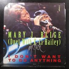 """Mary J. Blige w/ K-Ci Hailey - I Don't Want To Do Anything 12"""" Mint- Autographed"""