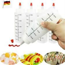 DE Kunststoff Klar Easy Squeeze Squeezy Kitchen Sauce Flaschenspender 250ml
