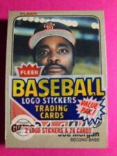 1983 Fleer Baseball Cello Pack W Cal Ripken 2nd Year Card on Top