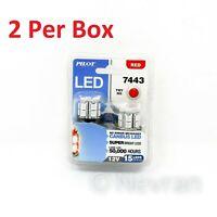 Pilot Automotive IL-7443R-15 7443 LED Bulb SMD 15 LED- Red 2 Piece Kit