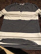 Ladies Striped T Shirt By Three Dots.com Size Medium