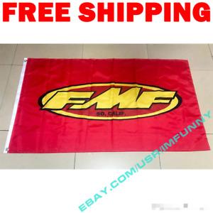 FMF Racing Team Logo Banner Flag 3x5 ft Show Garage Wall Decor Sign Gift NEW