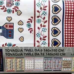 TOVAGLIA DA TAVOLA DA 12 POSTI E DA 6 POSTI COTONE HUNT ART. TWILL