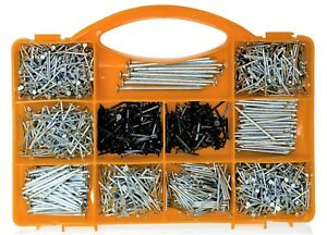 Brackit 2000 Piece Nail Assortment Kit – Inc Assorted Nails and Brads – In Case