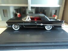 Oxford  1961  CHRYSLER 300 Convertible (Closed)  Black   1/87  HO  diecast car