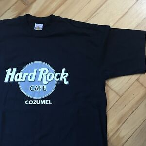 Hard Rock Cafe Cozumel Mexico Tshirt Silver Logo Mens XL