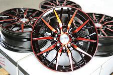 15 Red Wheels Rims 4 Lugs Honda Ctx Fit Accent Galant Mirage Altima Versa Cube