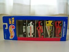 HOT WHEELS - EMERGENCY SQUAD - POLICE / AMBULANCE  5 VEHICLE GIFT PACK - DIECAST