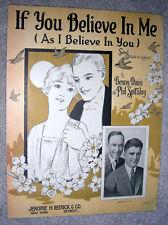 1926 IF YOU BELIEVE IN ME (As I Believe in You) Sheet Music MACY & SCOTT, Davis