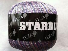 FEZA STARDUST #210 Lilac Pink Silver Metallic String Yarn Lg 100 gr skein 440yds