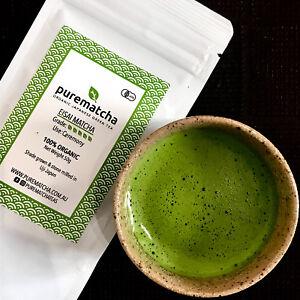 ORGANIC Japanese Uji Matcha Green Tea Powder - PUREMATCHA EISAI CEREMONIAL Grade