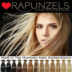 Keratin pre bonded hair extensions U nail tipped fusion remy human hair RAPUNZEL