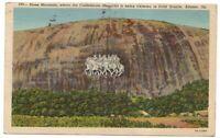 Stone Mountain Confederate Memorial Atlanta Ga Vintage Postcard Georgia