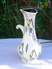 More details for retro 1950s beswick ware vase roof top pattern #1367 jim hayward rare shape