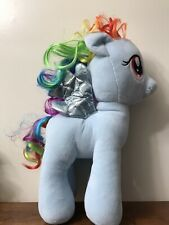"16"" My Little Pony Build a Bear Rainbow Dash Pegasus Blue Plush Stuffed Animal"