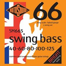 Rotosound SM665 Stainless Steel Swing 5-String Bass Guitar Strings Gauge 40-125