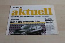 124345) Renault Sport Spider - Clio A - aktuell - Prospekt 05/1996