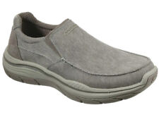 SKECHERS HURVEN SLIP ON KHAKI Color MEMORY Foam Shoes Men's Size 13 Extra Wide