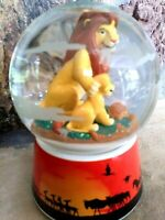 SIMBA AND MUFASA, SCHMID ROTATING MUSICAL DISNEY SNOW GLOBE, NEW MINT, w/Sticker