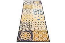 Viva New Murrine, Madeira Rug Blue Beige Yellow 100% Polyamid 57W x 180Lcm