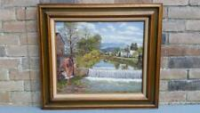 """Ted Summers, Pigeon Forge Tennessee Oil Painting 32"""",The Old Mill, River Rd 1976"""