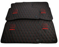 Floor Mats For Mercedes-Benz S Class W222 BRABUS Leather Handmade Tailored NEW