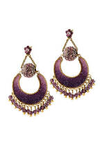Michal Negrin Earrings Dangle Swarovski Crystals #100174492004